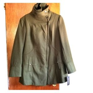 Steve Madden Diagonal Alley Coat Olive
